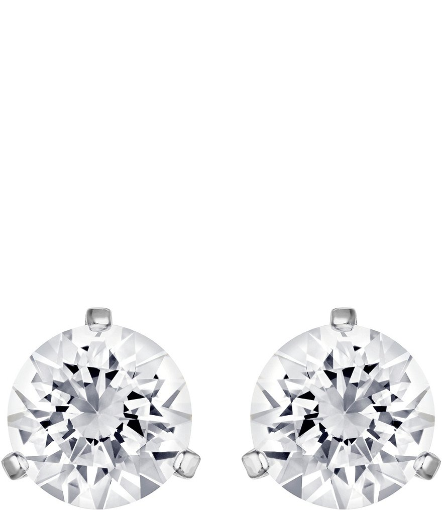 Swarovski Crystal Solitaire Earrings