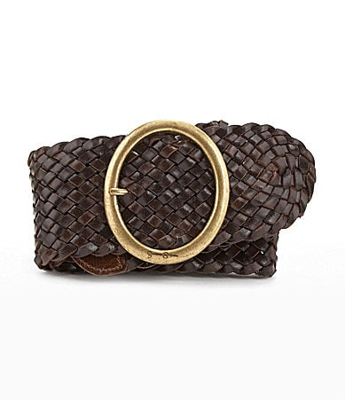 Jessica Simpson Leather Braided Belt