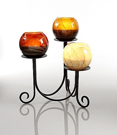 Northern lights candles quot stratford quot triangle candle pedestal