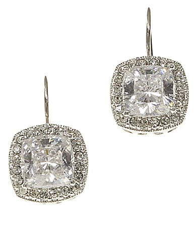 Nadri CZ Square Earrings