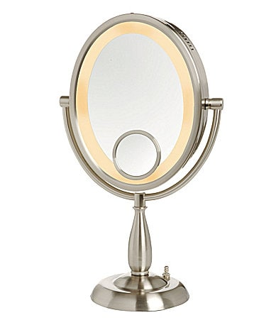 jerdon 10x vanity mirror with halo light. Black Bedroom Furniture Sets. Home Design Ideas