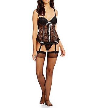 Cinema Etoile 3-Piece Stretch Lace Bustier Set