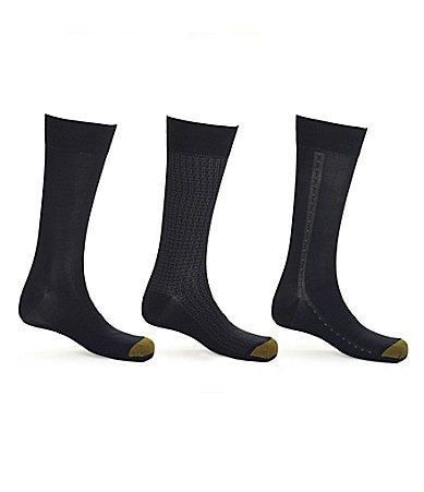 Gold Toe Softwear Patterned Dress Socks 3-Pack