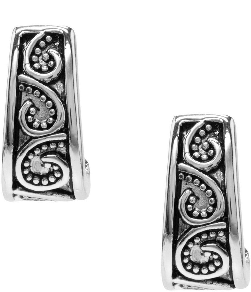 Dillard´s Tailored Antique Scroll Pattern J-Hoop Earrings