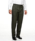 Hart Schaffner Marx Tailored Double-Pleated Wool Dress Pants