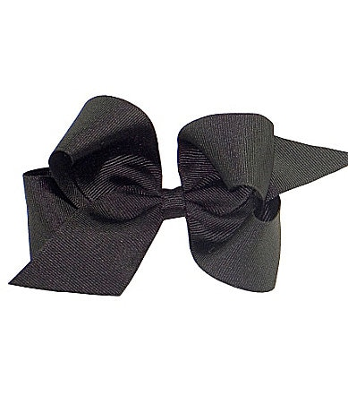 Copper Key Large Black Grosgrain Bow