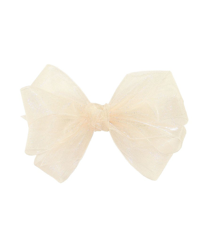 Copper Key  Small Ecru Organza Bow