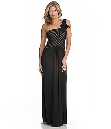 JS Collections One-Shoulder Gown