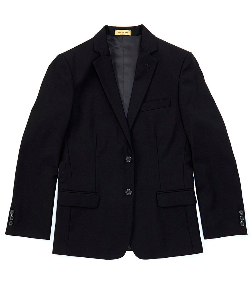 Class Club Gold Label 8-20 Black Single-Breasted Blazer