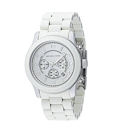 Michael Kors Runway White-Dial Chronograph Watch