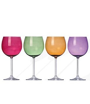 Lenox Tuscany Harvest 4-Piece Colorful Crystal Balloon Wine Glass Set