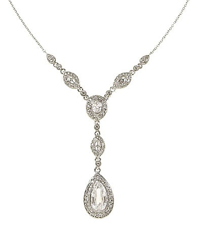 Nadri Cubic Zirconia and Crystal Y-Necklace