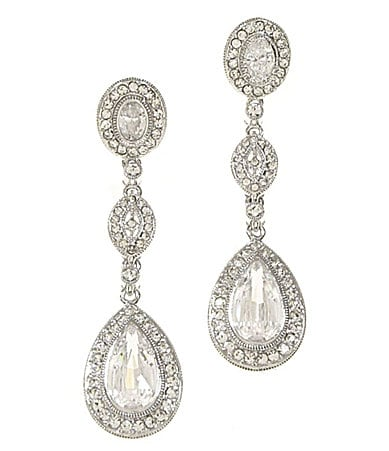 Nadri Cubic Zirconia and Crystal Drop Earrings