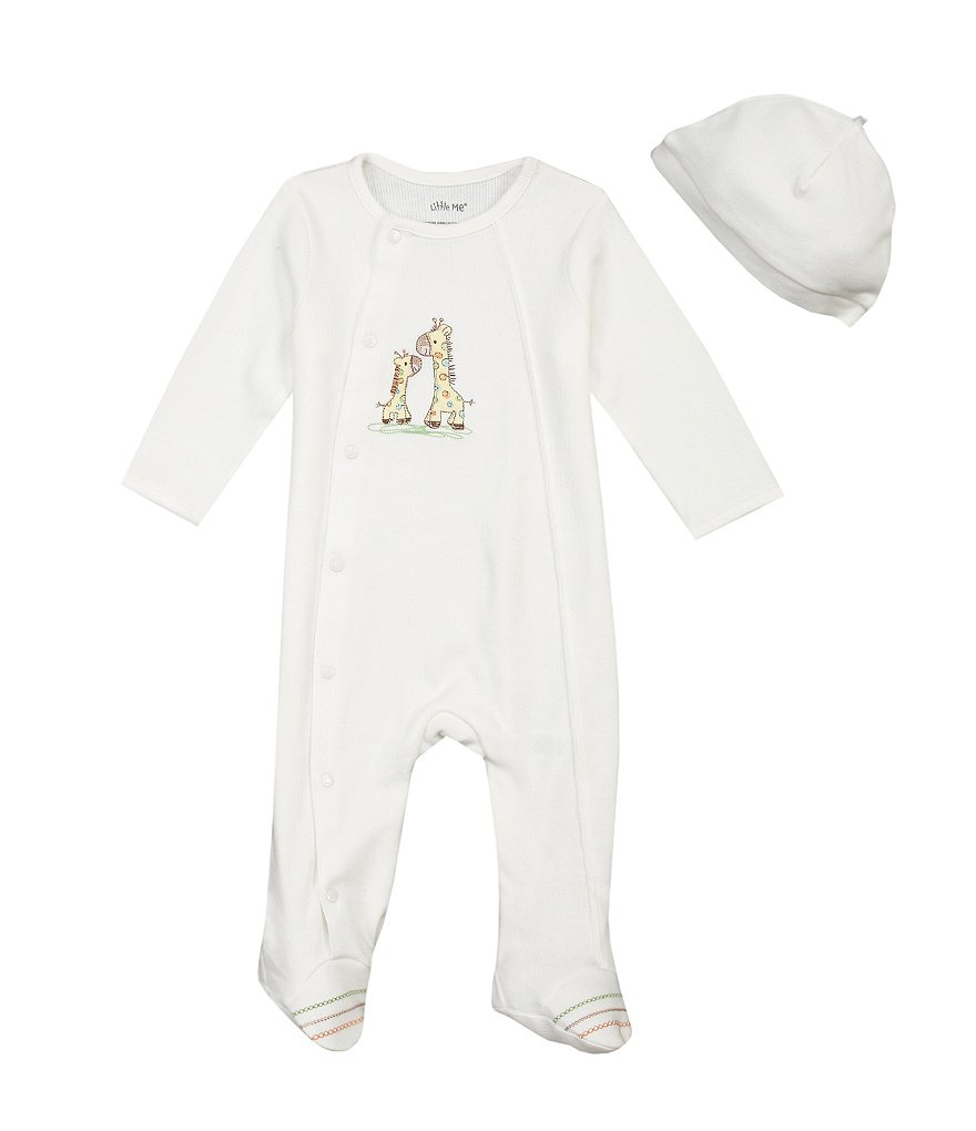 Little Me Preemie-9 Months Giraffe Footie Set