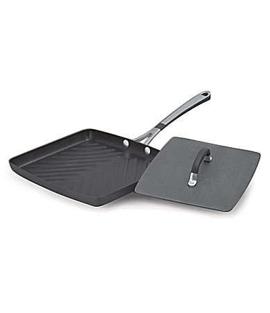 Simply Calphalon Nonstick Panini Pan with Press Lid
