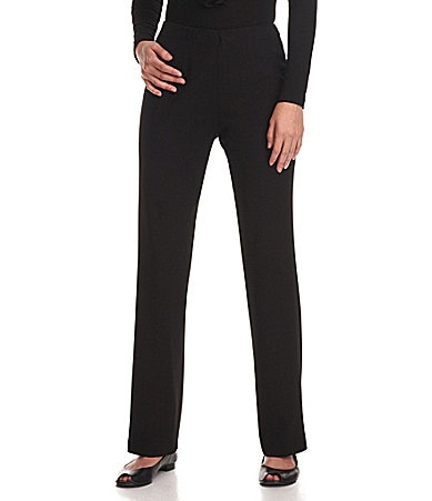 Investments Petites REGENT ST fit SLIM FX Comfort Control Straight-Leg Pants