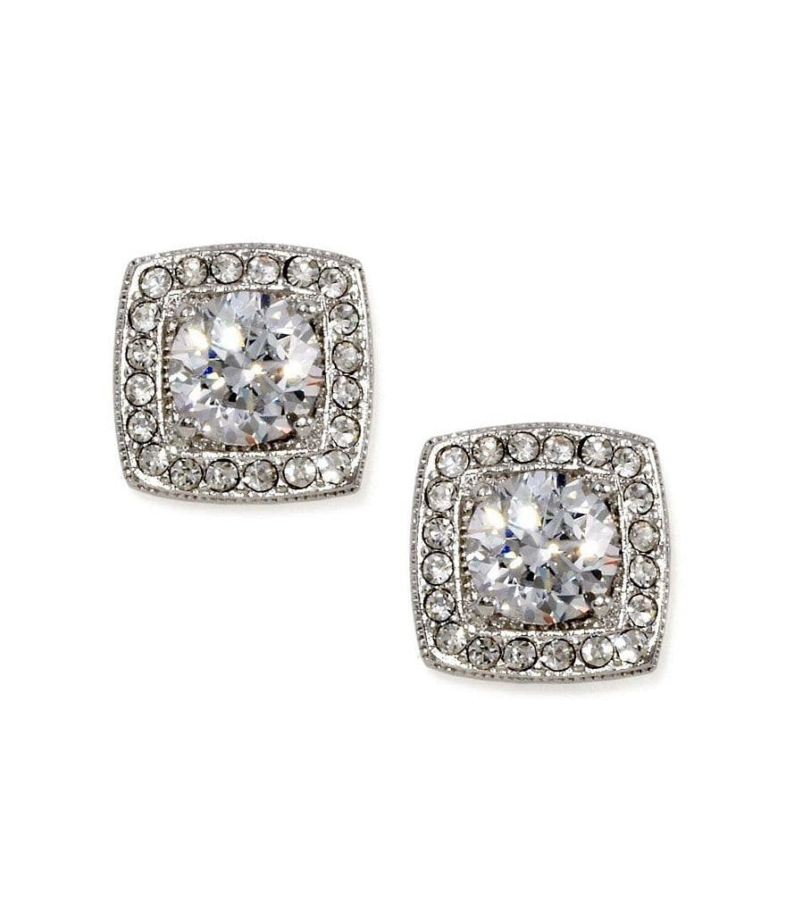 Nadri Framed Cubic Zirconia Stud Earrings