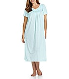 Miss Elaine Woman Short-Sleeve Long Gown