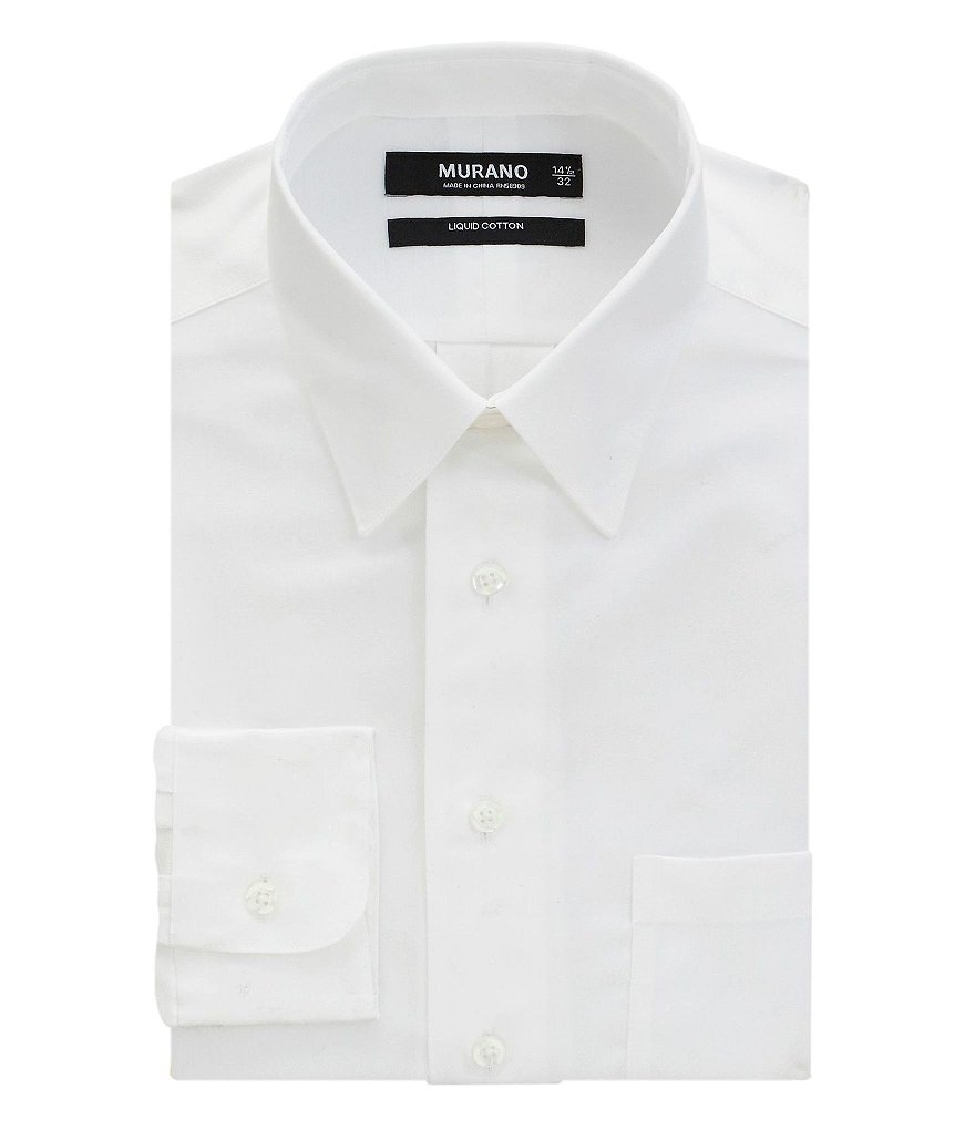 Murano Liquid Cotton Slim-Fit Point-Collar Dress Shirt