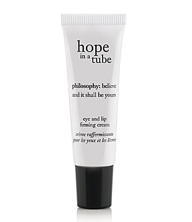 philosophy hope in a tube high density eye and lip firming cream