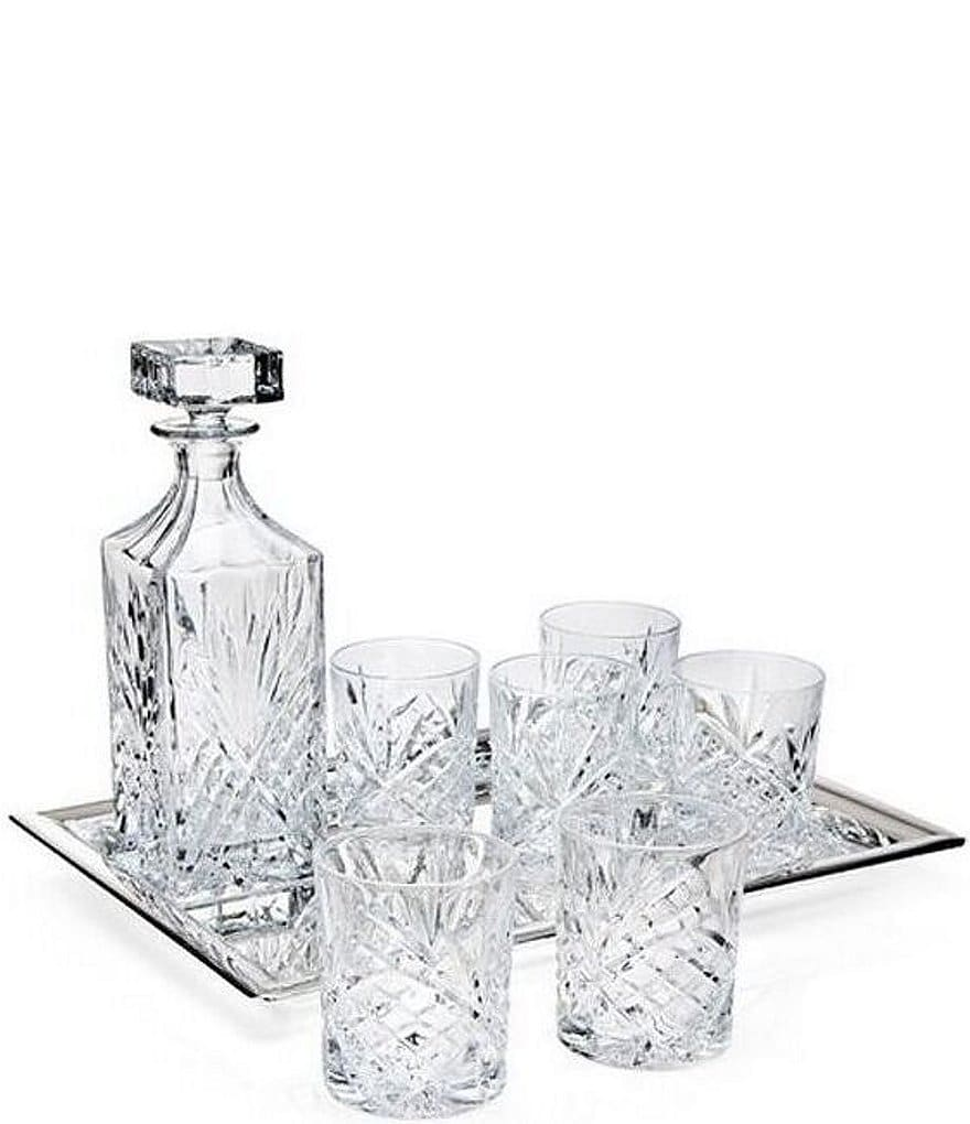 Godinger Dublin Diamond-Cut Crystal 8-Piece Whiskey Set
