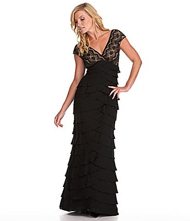 Adrianna Papell Lace Gown