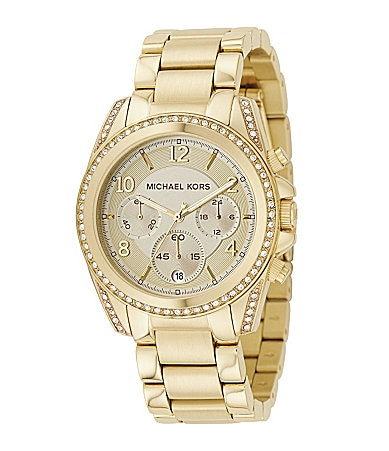 Michael Kors Blair Champagne-Dial Chronograph Watch