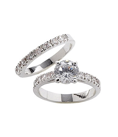 Tivoli Cubic Zirconia Engagement Ring Set