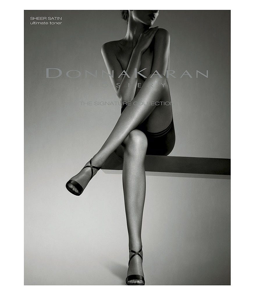 Donna Karan Signature Collection Sheer Satin Flat Seam Ultimate Control Toner Hosiery
