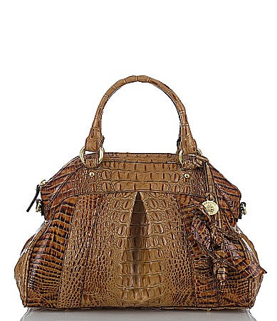 Brahmin Toasted Almond Collection Louise Rose Satchel