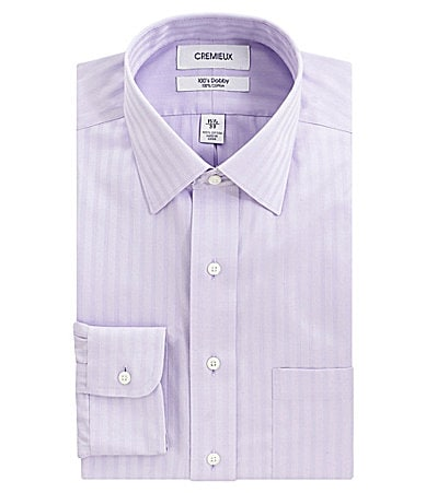 Cremieux Tonal-Stripe Spread-Collar Dress Shirt