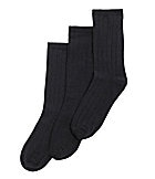 Class Club Navy Flat-Knit Socks 3-Pack