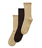 Class Club Flat-Knit  Socks 3-Pack