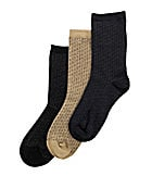 Class Club Dress Pindot Crew  Socks 3-Pack