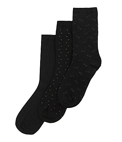 Class Club Dress Crew  Socks 3-Pack