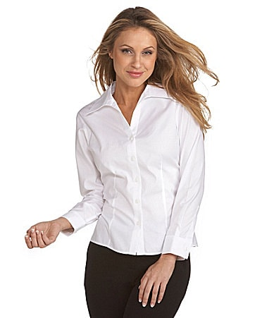 Investments Petites Gold Label No-Iron Oxford Shirt