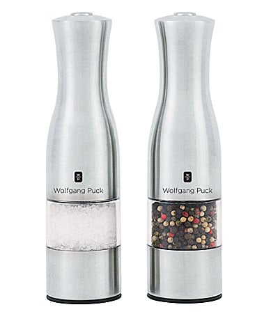 Wolfgang Puck 2-Piece Electric Pepper Mill Set
