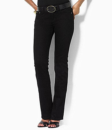 Lauren Ralph Lauren Woman Manhattan Wash Stretch Straight Jeans