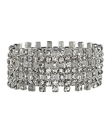 Cezanne Crystal 4-Row Open-Weave Stretch Bracelet