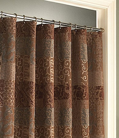 Croscill Galleria Brown Shower Curtain