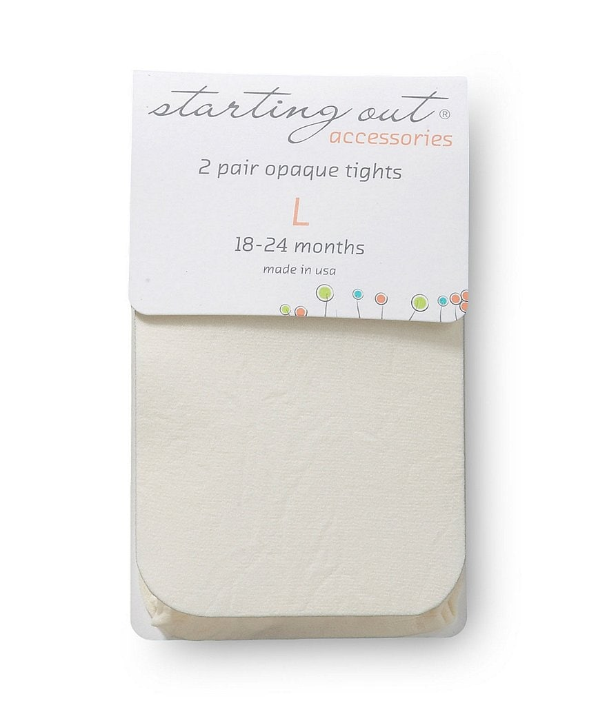 Starting Out Infant Opaque Tights 2-Pack