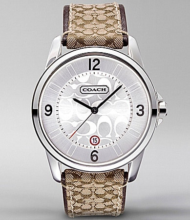 COACH CLASSIC SIGNATURE LARGE STRAP WATCH