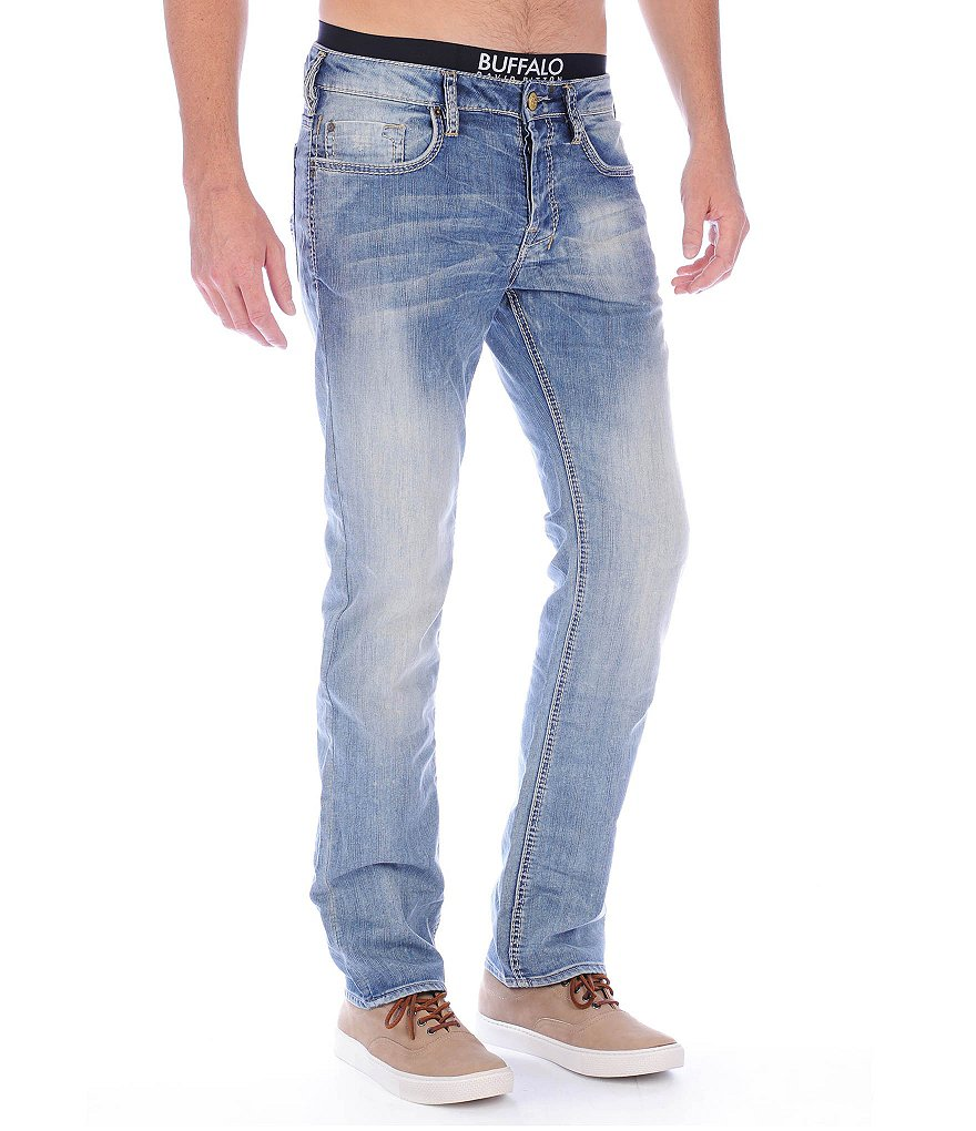 Buffalo David Bitton Six Slim Straight-Leg Jeans