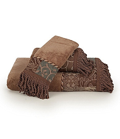 Croscill Galleria Brown Bath Towels