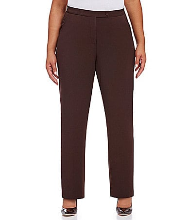 Investments II MADISON AVE fit SLIM FX  Comfort Control Straight-Leg Pants
