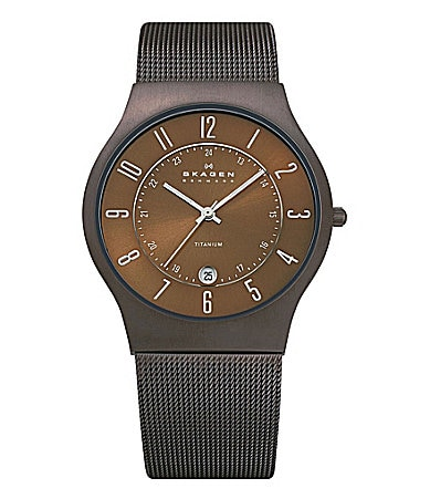 Skagen Extra-Large Plated Titanium Watch