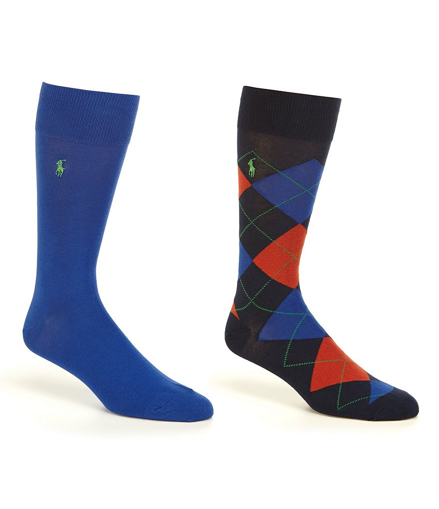 Polo Ralph Lauren Argyle Dress Socks 2-Pack