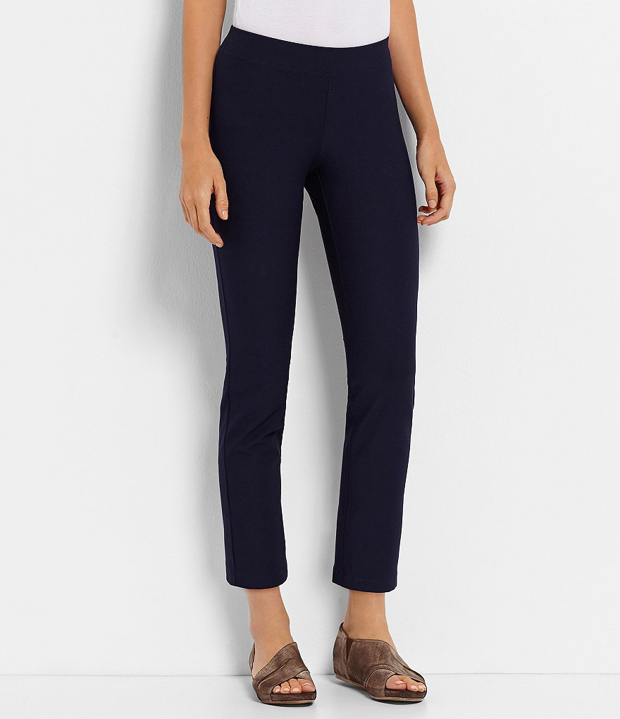 Eileen Fisher Petite Essentials Crepe Slim Ankle Pants