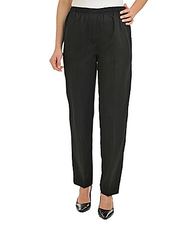 Allison Daley Petites Mock-Fly Pull-On Pants