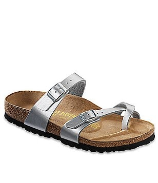 Birkenstock Women´s Mayari Patent Metallic Criss Cross Banded Sandals